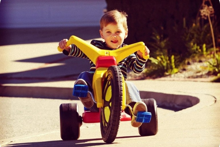 Boy on a Big Wheel