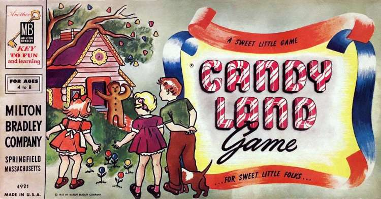 vintage Candy Land game - fun from the 1950s