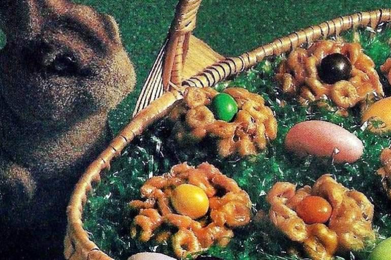 Caramel peanut nests dessert recipe