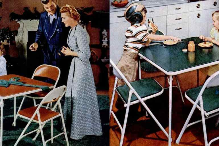 Card tables and folding furniture from the fifties