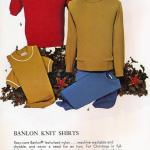 Vintage Banlon nylon casual knit shirts for men