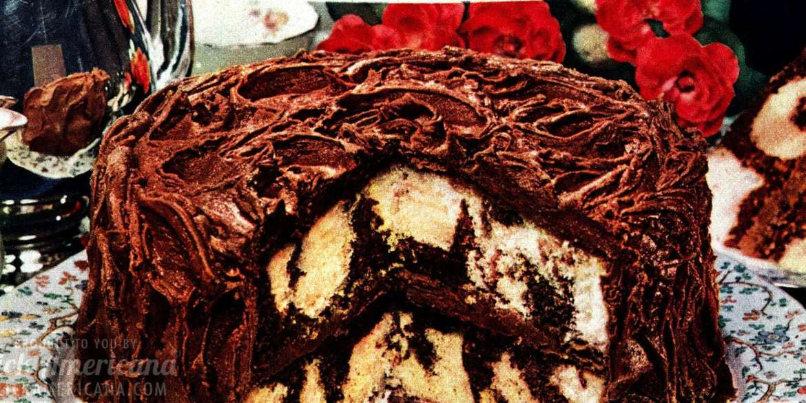 Chocolate Whirlaway cake recipe - food from Feb 1950-001