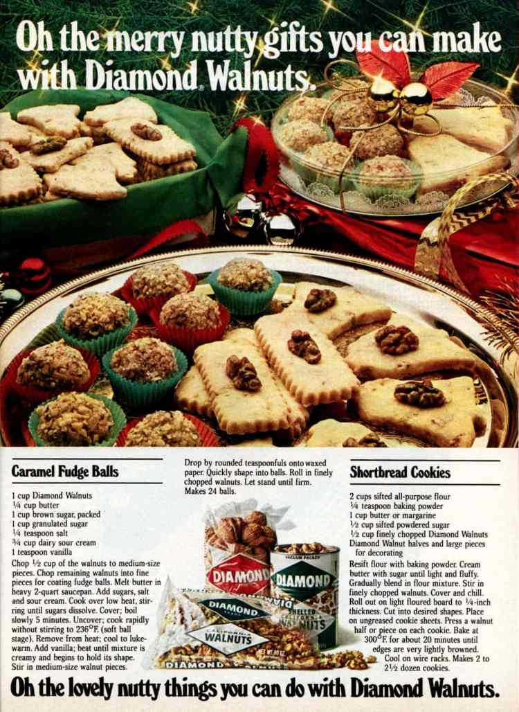 Christmas gifts from the kitchen: Caramel fudge balls & cut-out shortbread cookies (1981)