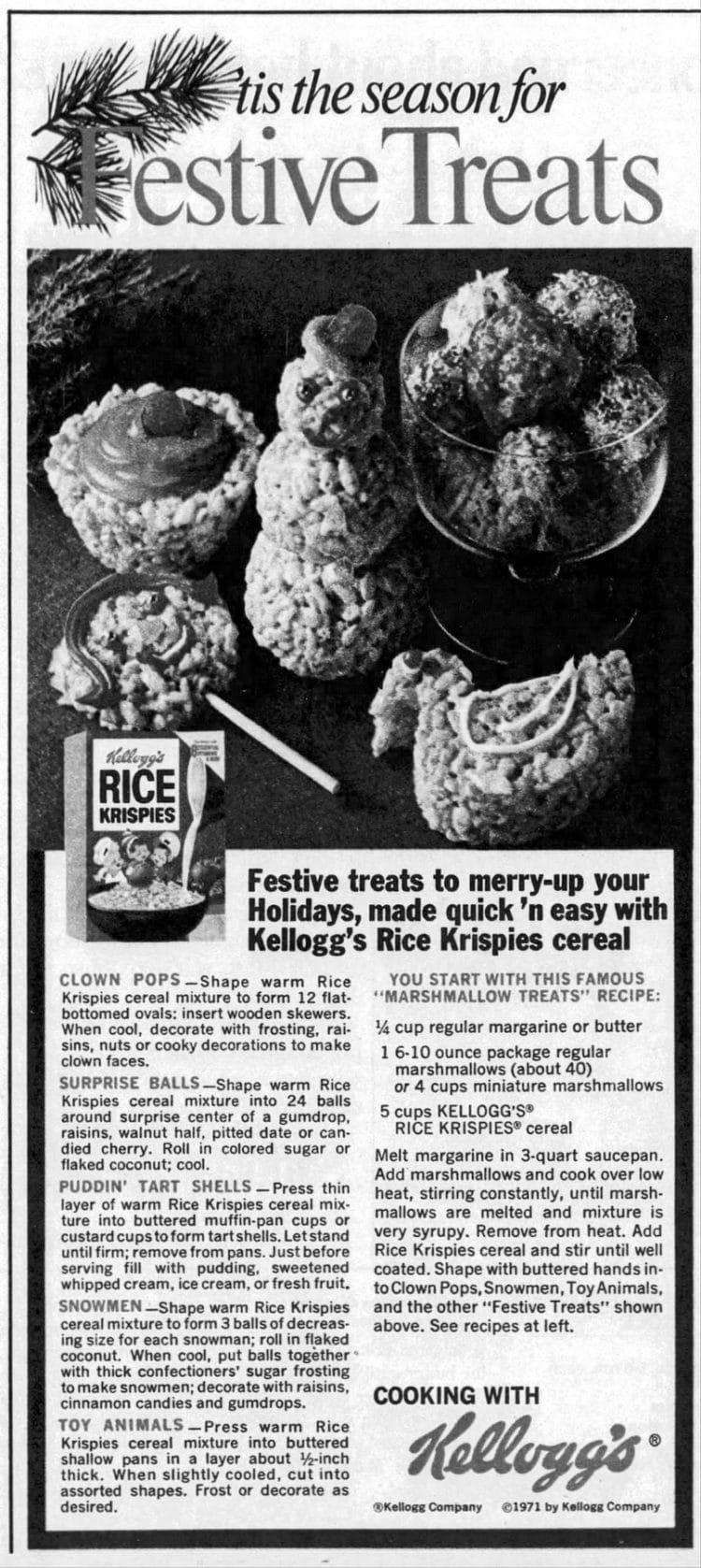 Christmas 'tis the season for Merry Rice Krispies Treats 1973