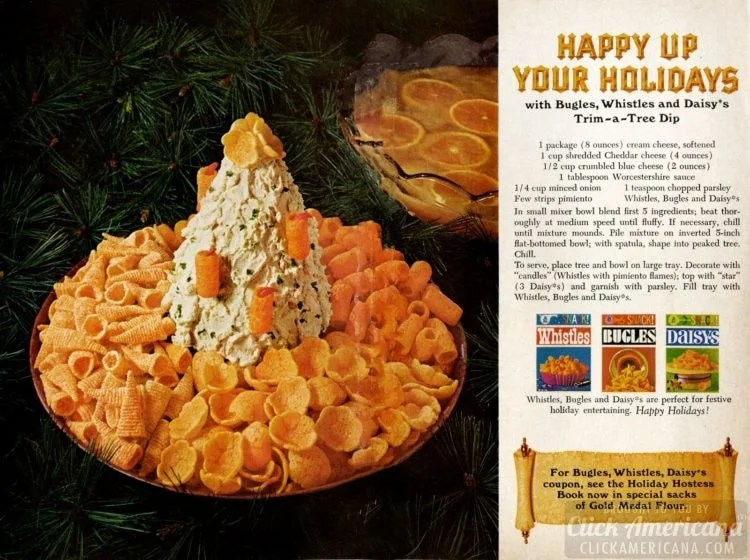 Christmas-tree shaped dip from 1967