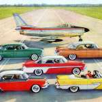 Chrysler cars for 1956 Imperial, Plymouth, Dodge, De Soto have the forward look with Flight-Sweep