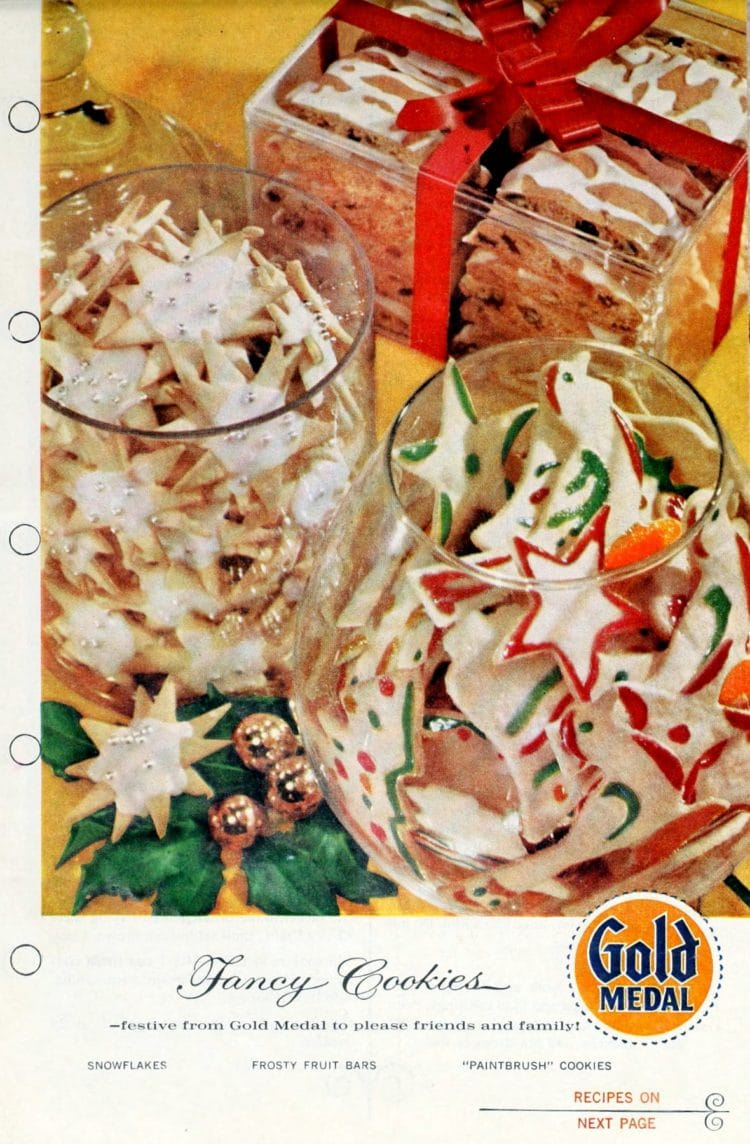 Classic Christmas cookie recipes from the '50s Sugar cookie snowflakes, paintbrush cookies, frosty fruit bars (2)