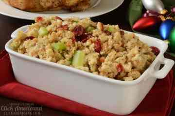 Classic recipes for turkey stuffing with apples, cranberries, oranges apricots
