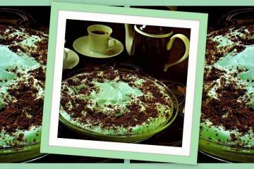 Cool mint cookie pie - butter mint chiffon pie recipes from the 70s