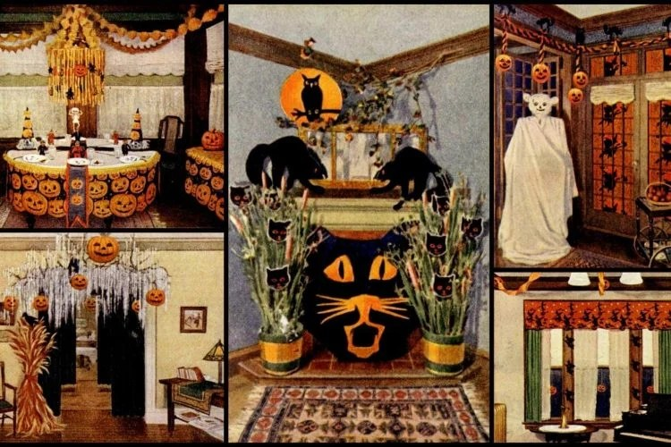 Diy Halloween Decorations On A Budget Fiendishly Clever Ideas From The Days Before Party Supply Stores 1919 Click Americana