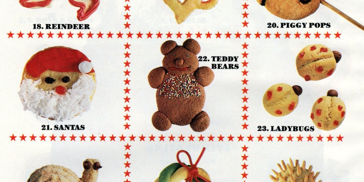 Decorate Christmas cookies like toys - vintage ideas from the 80s (3)