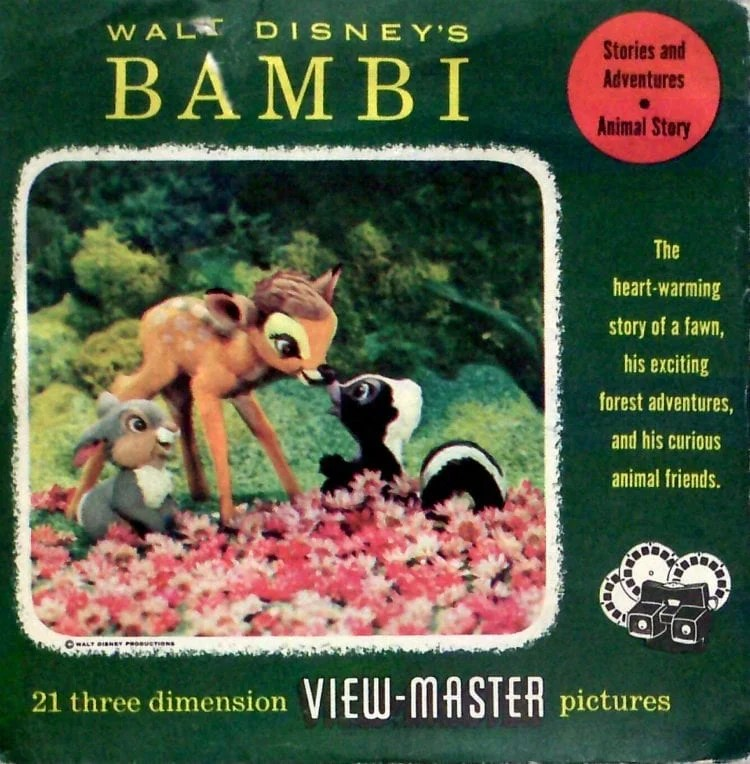 Disney's Bambi View-Master reel cover