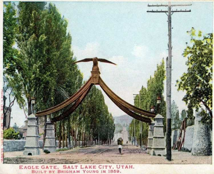 Eagle Gate - Salt Lake City c1900