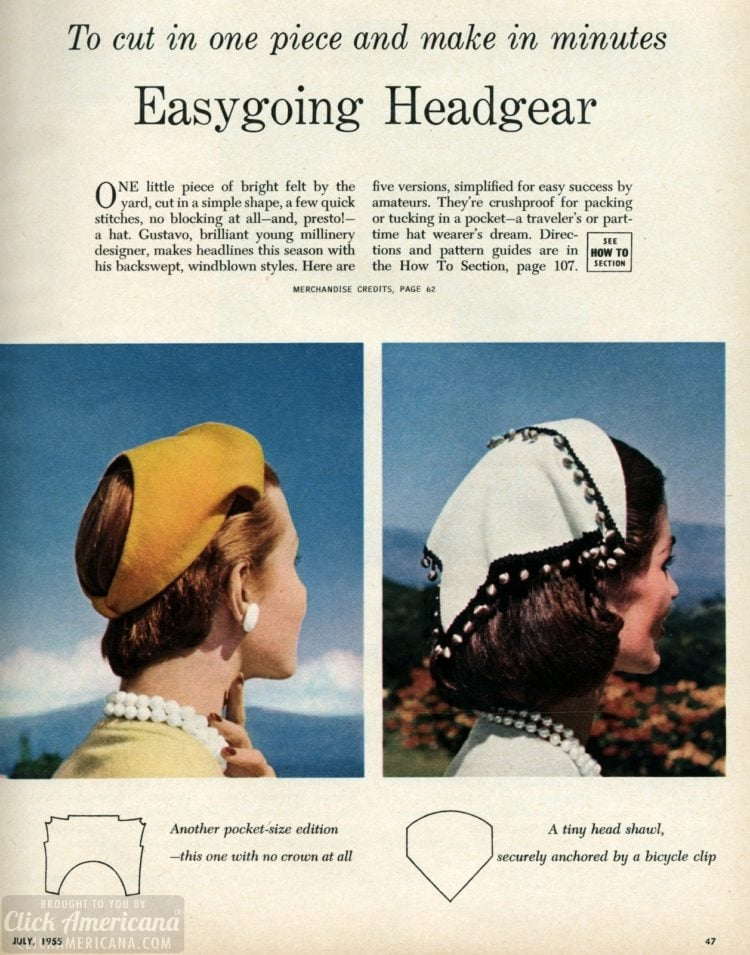 Easygoing headgear To cut in one piece and make in minutes