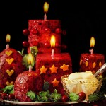 Edible cranberry candle salad with mayo from 1966 at Click Americana (2)