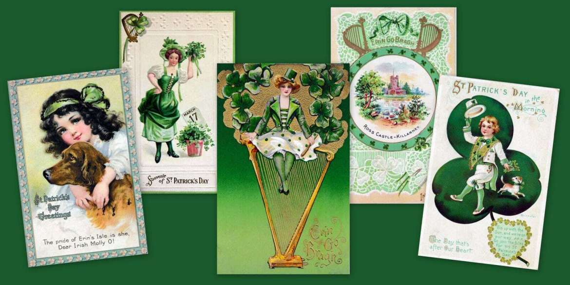 Erin go bragh! 17 antique & vintage St Patrick's Day postcards from the 1900s