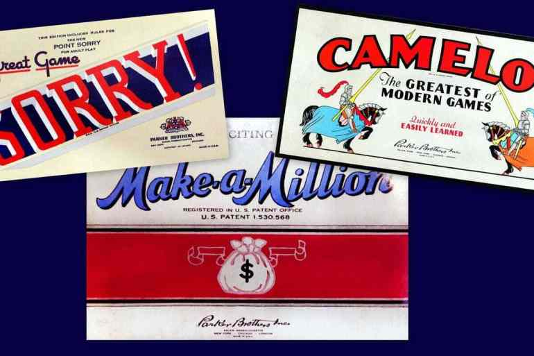Famous Parker board games from the 1940s