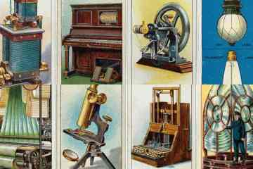 Famous invention vintage trading cards