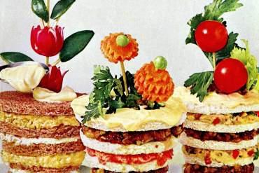 Flower pot sandwiches