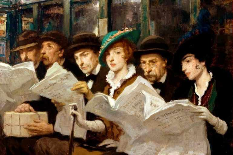Francis Luis Mora - Subway Riders in NYC 1914-001