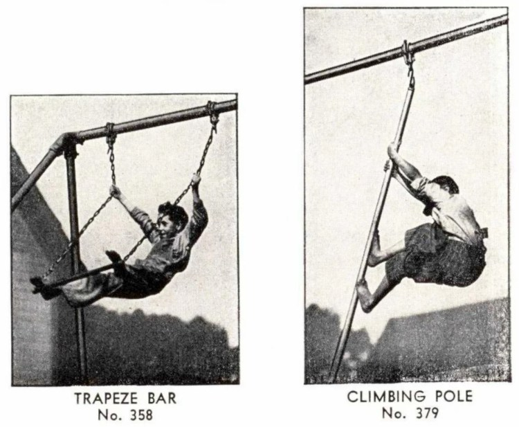 From 1940 - old playground heavy-duty outdoor gymnasium (1)