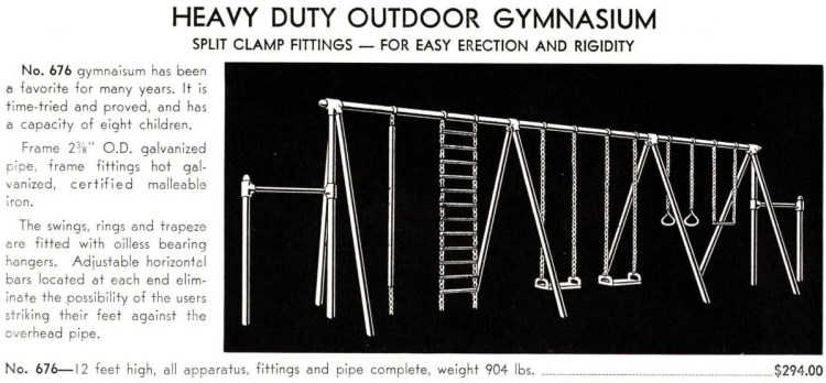 From 1940 - old playground heavy-duty outdoor gymnasium (2)