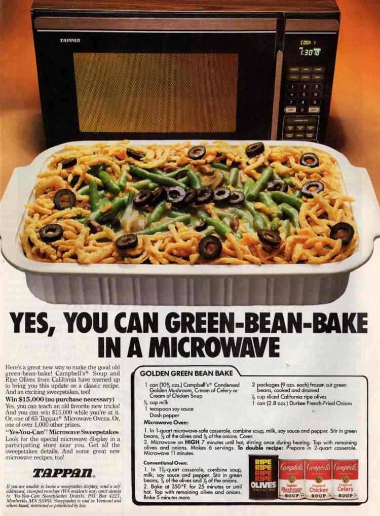 Golden green bean bake recipe (1987)