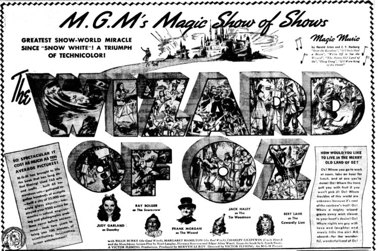Greatest miracle - Wizard of Oz 1939