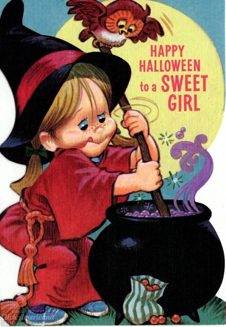 Happy Halloween to a sweet girl 1979