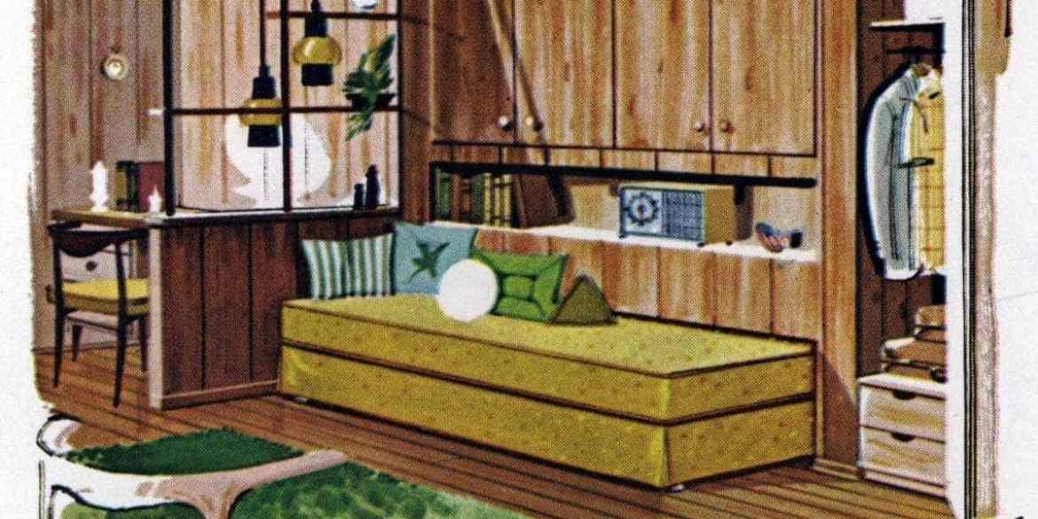 How to make a space-saving guest wall for visitors (1961)