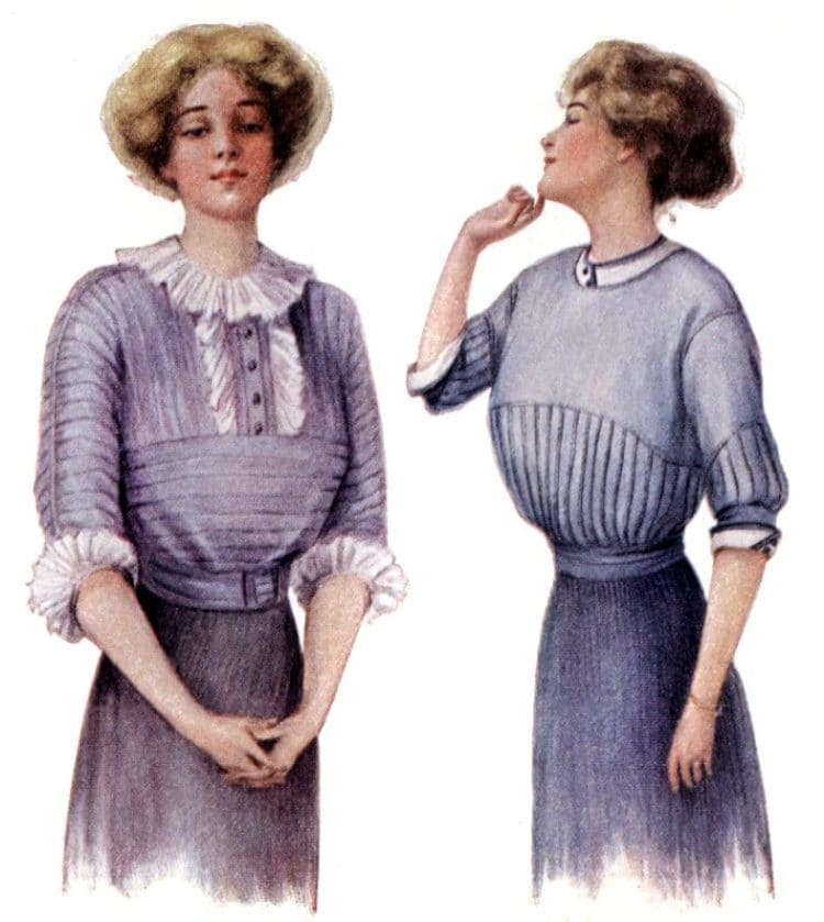 How office girls can look like fashion models (1913)
