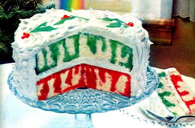 How to make a classic Christmas Rainbow Poke cake (1980s)