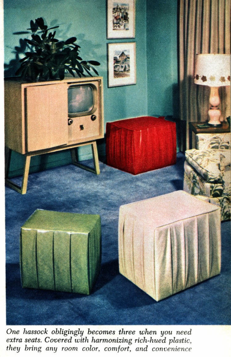 How to make double-duty hassocks - DIY projects from the 50s (4)