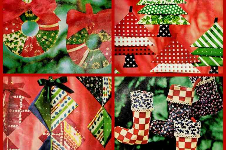 How to sew some cute, crafty Christmas tree ornaments (1974)