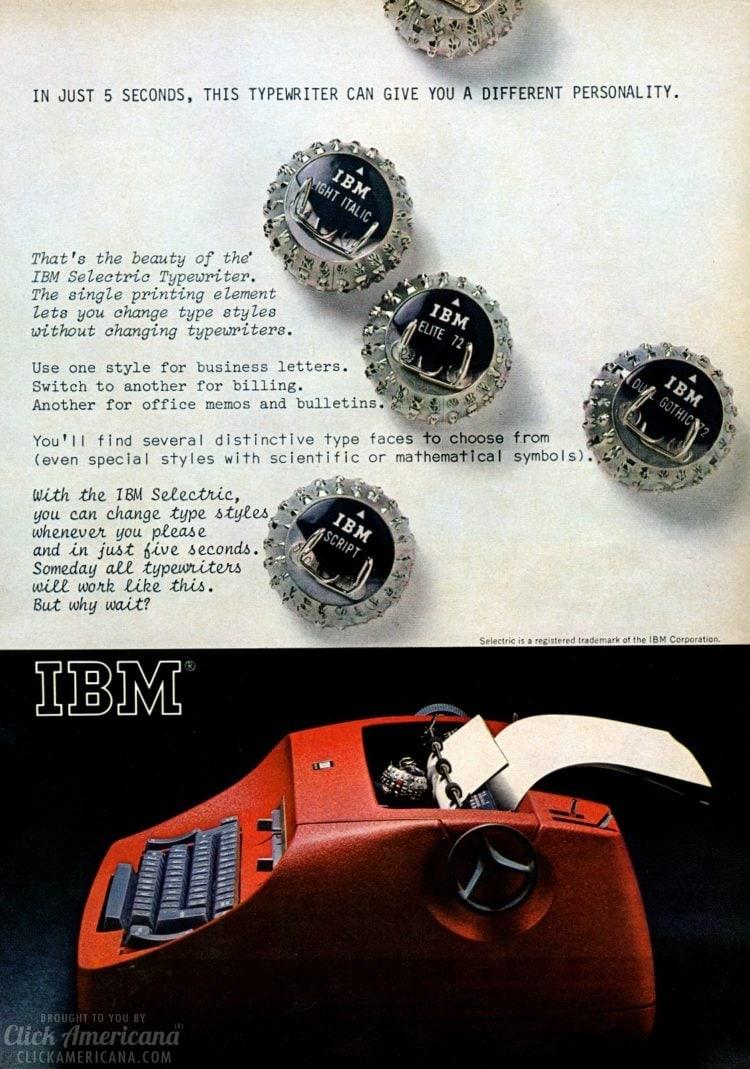 IBM Selectric typewriter from 1966