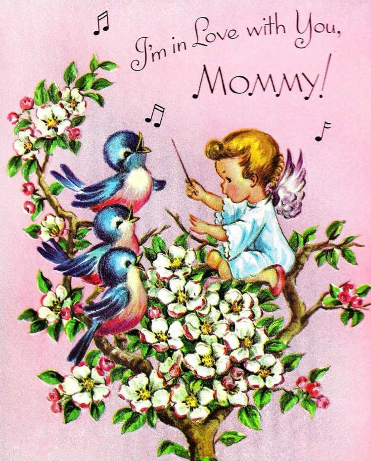 I'm in love with you mommy - Vintage Mother's Day card from the 1950s-1960s