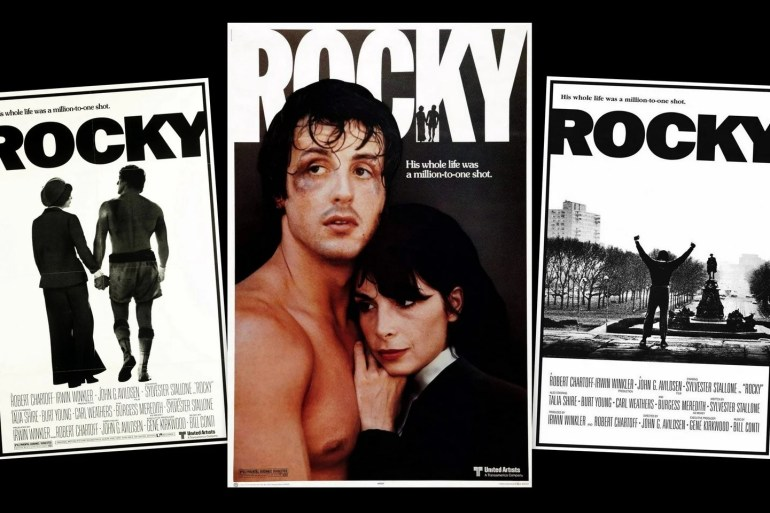 In the movie Rocky, Sylvester Stallone packs a real punch (1976)
