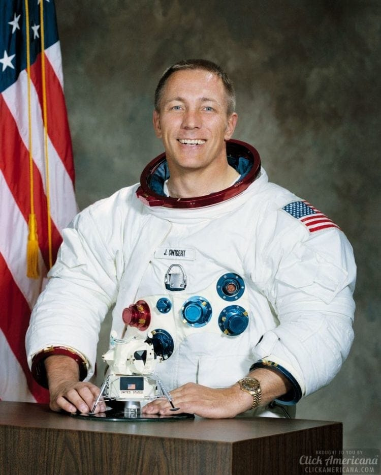 Swigert is 'swinger' on Apollo 13 crew (1970)