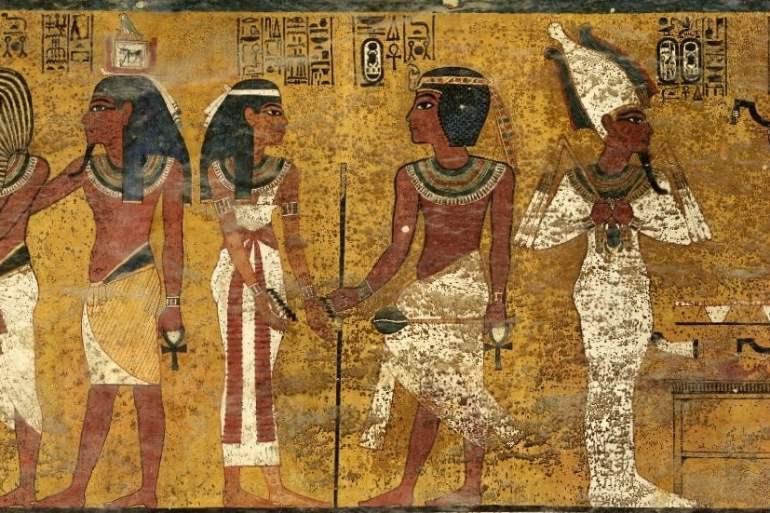 King Tutankhamun - Tomb mural