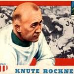 Knute Rockne trading card - 1955