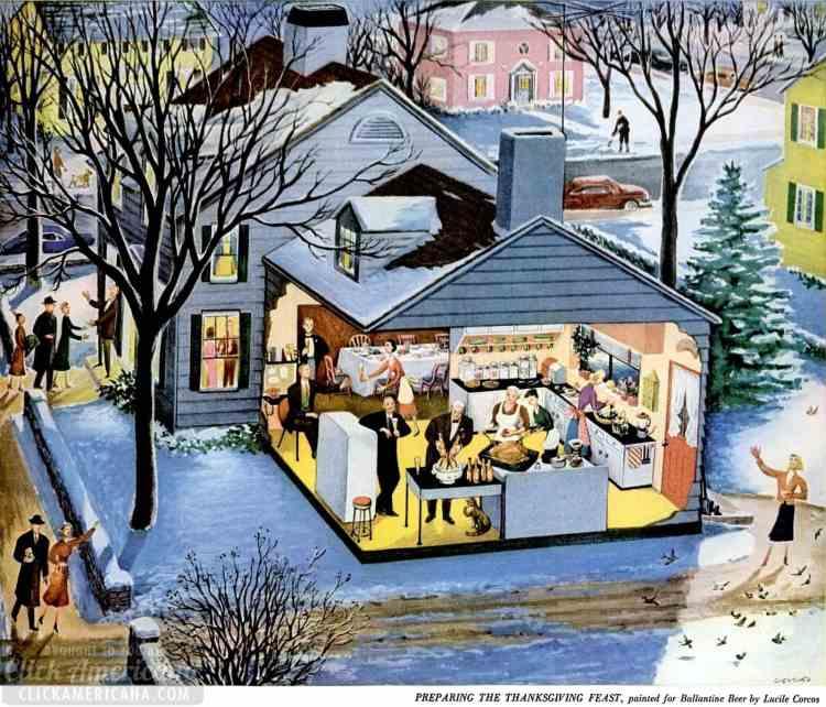 LIFE Nov 30, 1953 Thanksgiving house