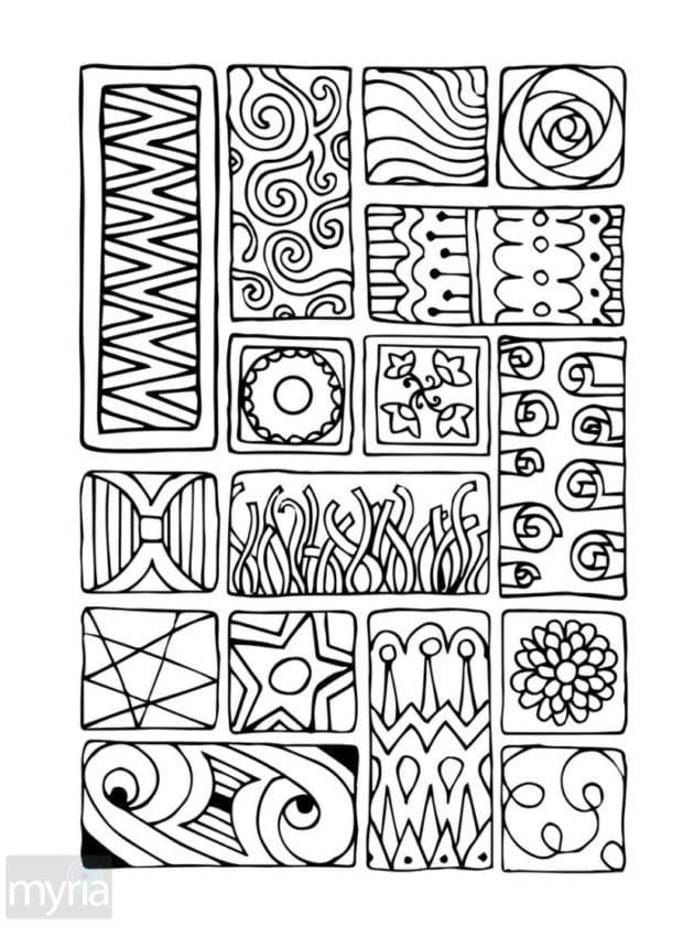 Large Print Adult Coloring Book 1 Big Beautiful Simple Designs