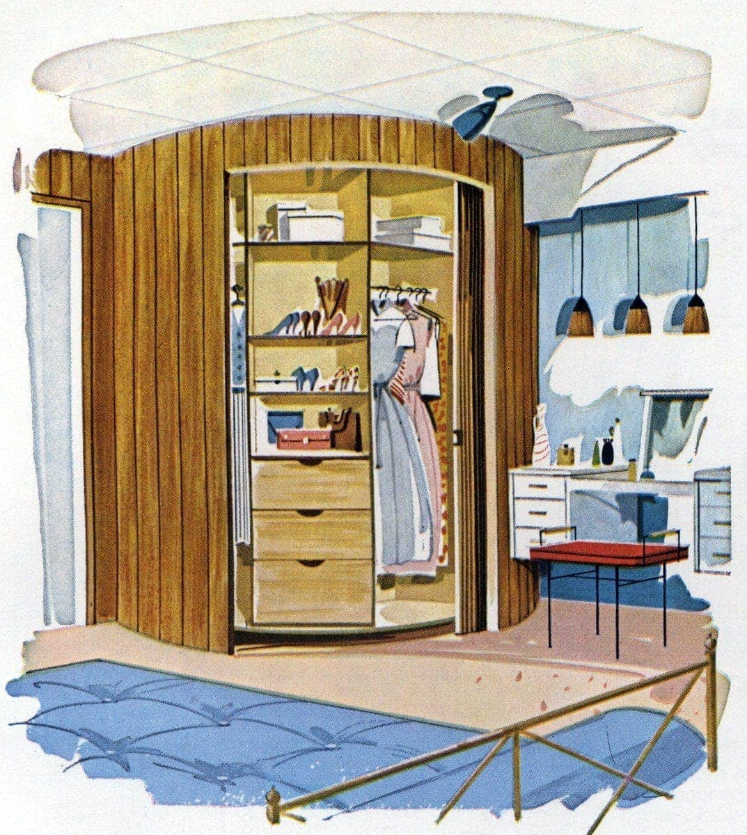 How To Make A U0027Lazy Susanu0027 Wardrobe Closet For Your Bedroom (1961)