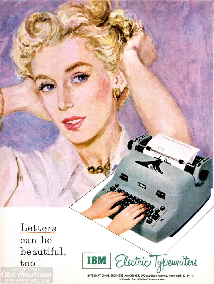 Letters can be beautiful too - 1953 typewriter