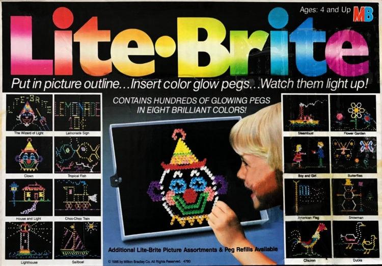Lite Brite game 1986