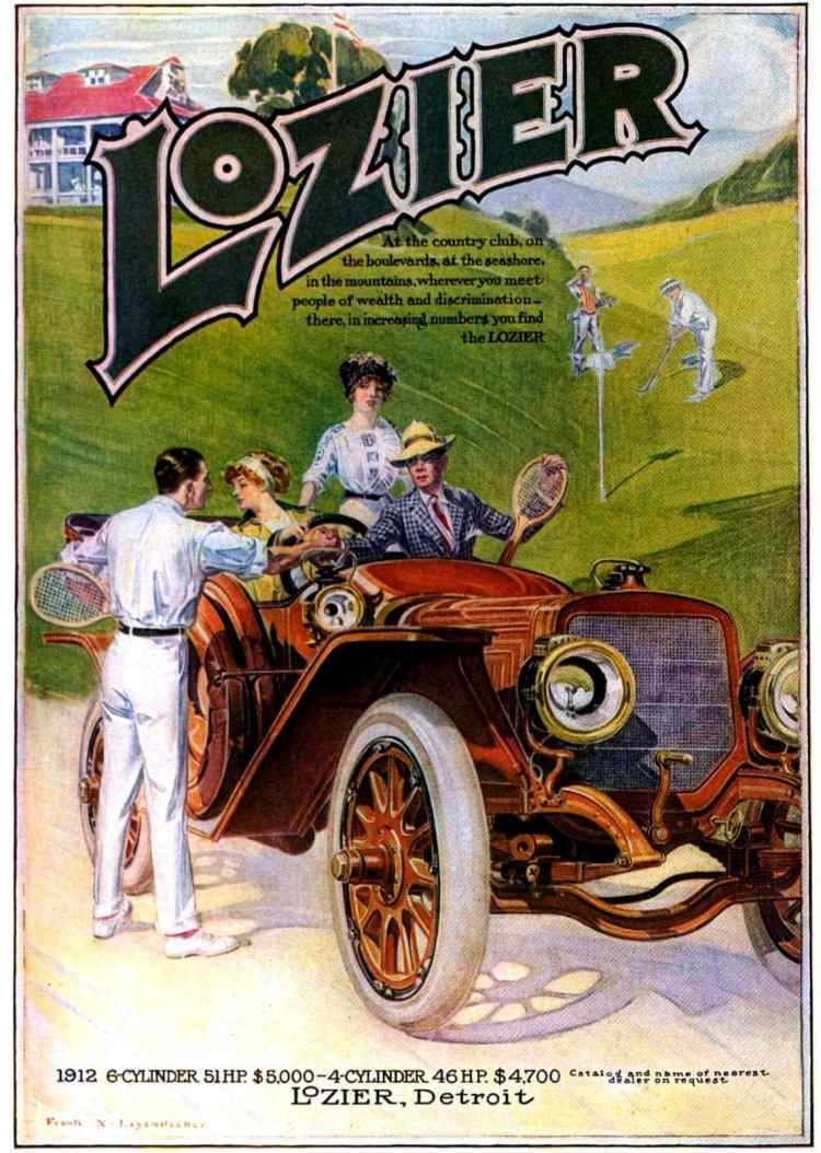 Lozier Touring Car for 1912 - from 1911 - Classic automobiles