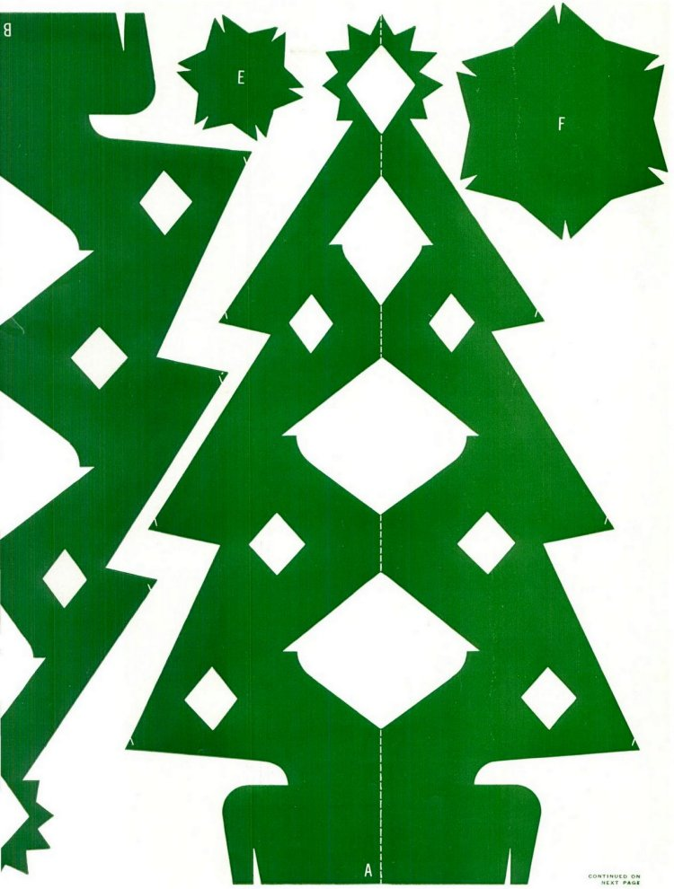 Make this Christmas tree craft project from 1950 (1)