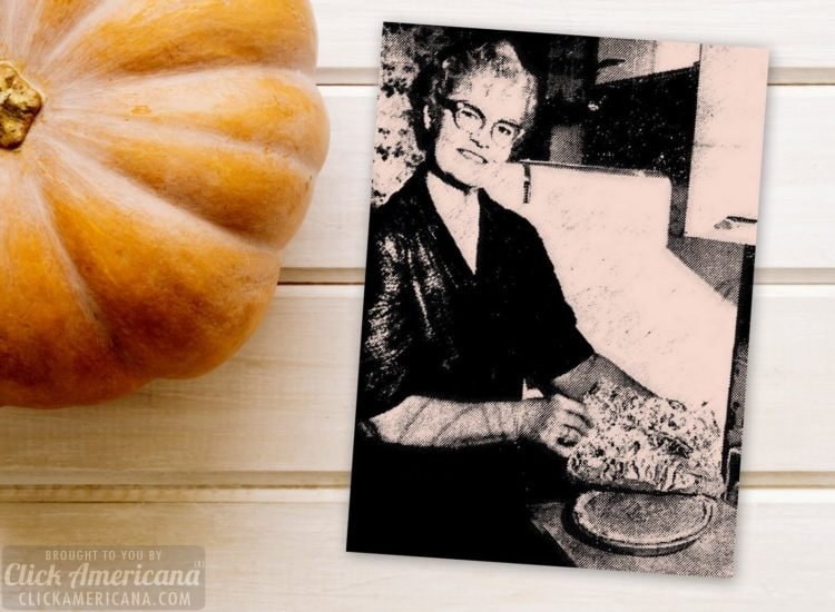 Marshmallow pumpkin pie recipe (1958)