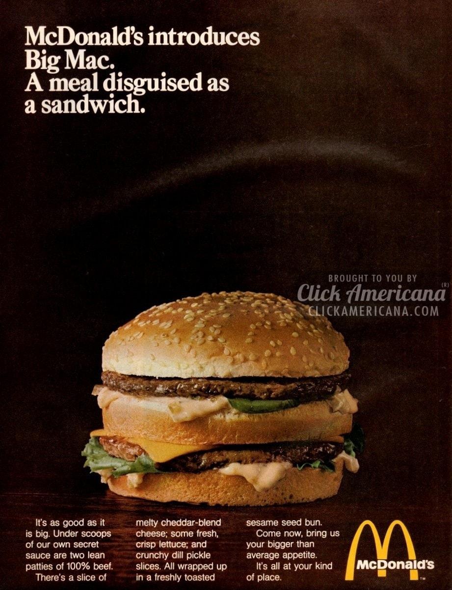 McDonalds introduces the Big Mac 1969  Click Americana