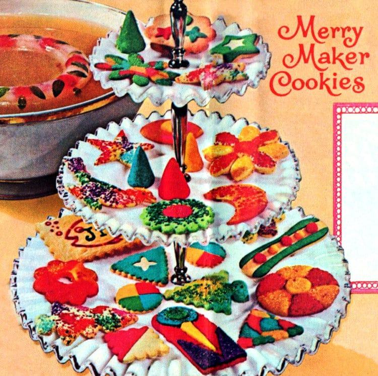 Merry Maker cookies recipe - Vintage Christmas 1962